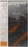 The Gates, Project for Central Park, New York City. Drawing in 2 parts