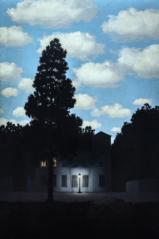 "L'Empire des Lumieres"" (""Empire of Light""), by  René Magritte"