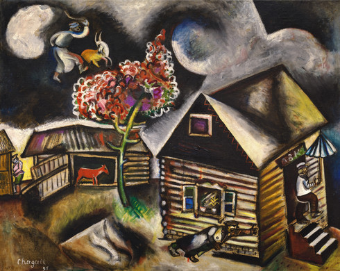 Collection online marc chagall rain la pluie 1911 for Biographie de marc chagall