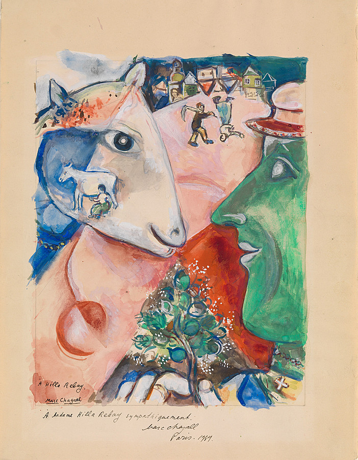 Collection Online | Marc Chagall. I and the Village (Moi ...